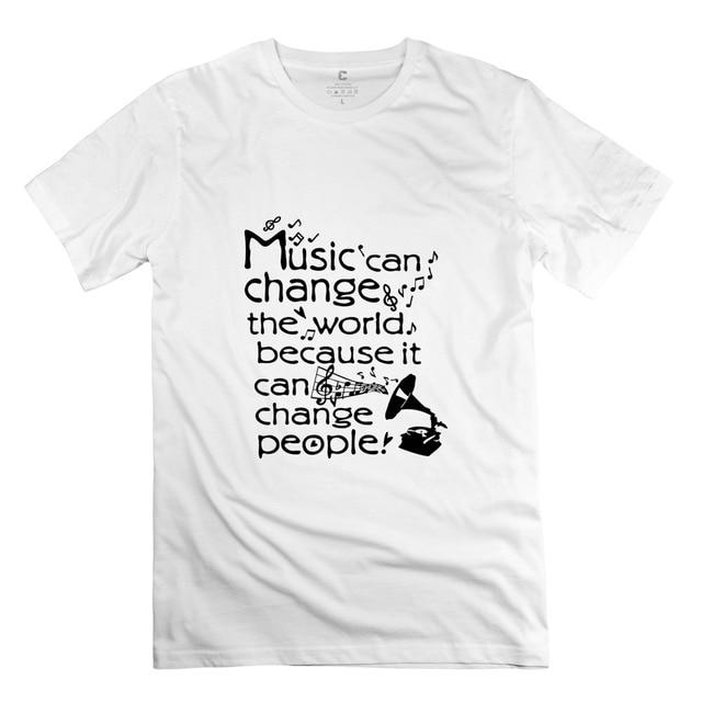 2015 Einfachen Stil Musik Konnen Die Welt Verandern Zitate T Shirts