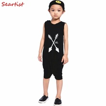 #20# 2016 New Baby Boys Girls Summer Playsuits Boy Sleeveless Cotton Short Romper Kids Sportsuits