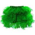 Gótico Capas de Volantes de Organza Verde Neto Sexy Adultos Tutu Falda Mujeres Burlesque Enaguas Underdress Underskirt Club Dance Wear