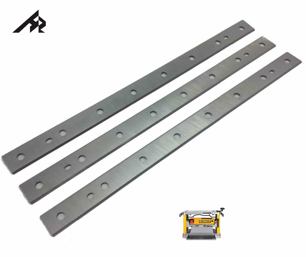 HZ 12-1/2 Wood Thicknesser Planer Blades Knives for Dewalt DW734 Replaces DW7342 Thicknesser Planer - Double Edged - Set of 3 tp760 765 hz d7 0 1221a