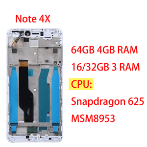 Image 2 - AAA Quality LCD+Frame For Xiaomi Redmi Note 4X LCD Display Screen For Redmi Note 4 Global Version LCD Only For Snapdragon 625