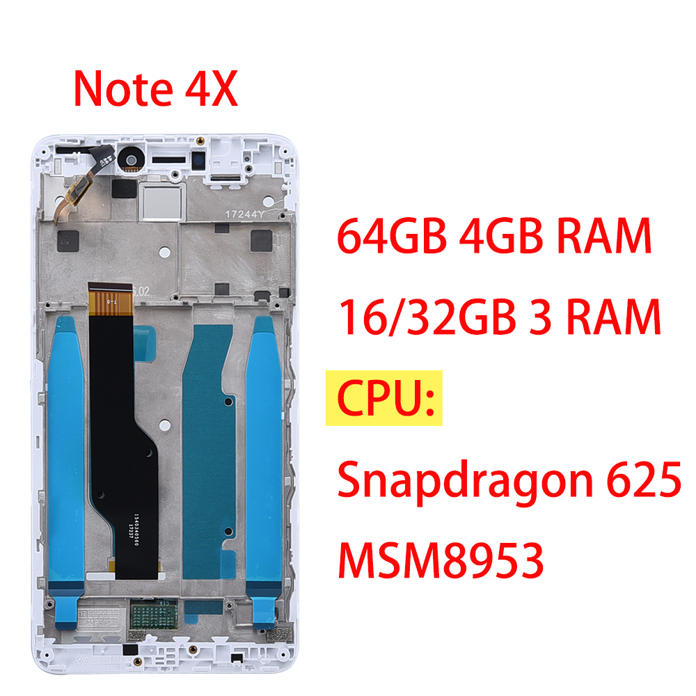 Image 2 - AAA Качество lcd + рамка для Xiaomi Redmi Note 4x ЖК дисплей экран для Redmi версия 4 глобальная версия lcd только для Snapdragon 625-in ЖК-экраны для мобильного телефона from Мобильные телефоны и телекоммуникации