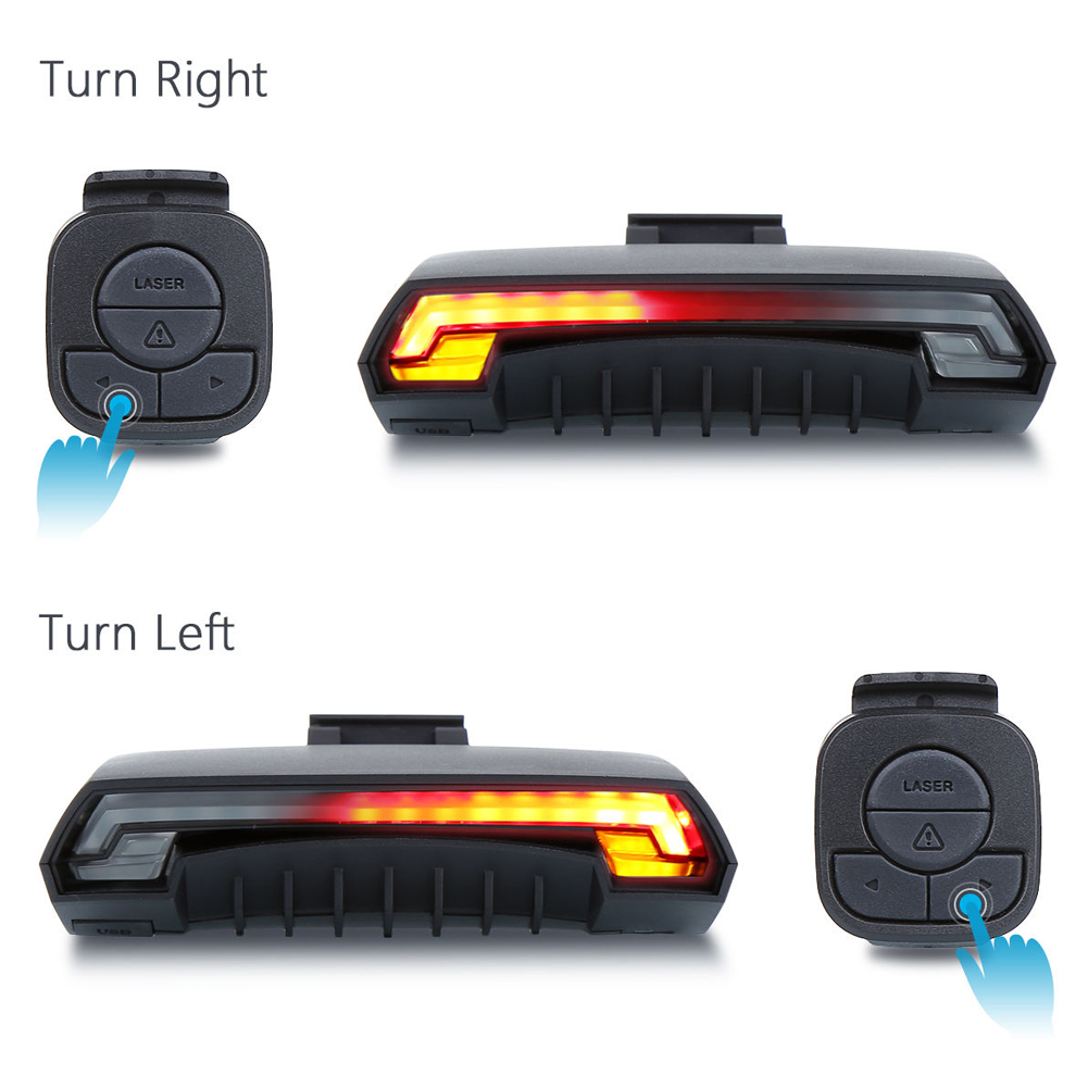 Image 2 - Bicycle Wireless  Rear Light Bike Turn Signal Remote Control 
