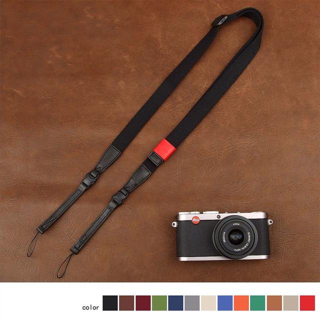 カムイン CS172 1801 綿 1815 テープ牛革ユニバーサルカメラストラップネックキャリング布一般調節可能なベルト