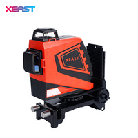 XEAS Professional 3D 12Lines Red Laser Levels Self Leveling 360 Horizontal And Vertical Cross Green Laser