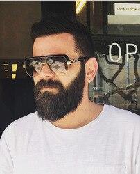 SOLO TU mode surdimensionné lunettes de soleil marque Designer de luxe hommes personnalité beau lunettes de soleil lunette de soleil homme marque