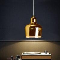 Датский одной головы металла Открытый Подвесные Светильники Ресторан Nordic современный кулон лампа настольная кафе бар кровать головы Droplight