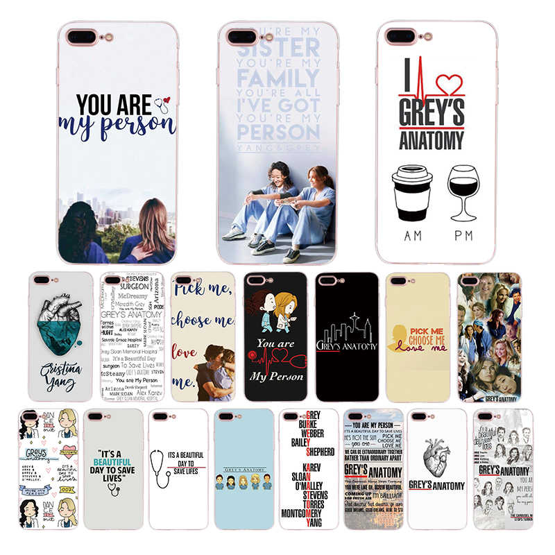 Greys Anatomy Quotes Printed Soft Silicone Phone Case For iPhone X xr xs max Back Cover 8 7 6 6S Plus Coque SE 5S TPU Shell Capa