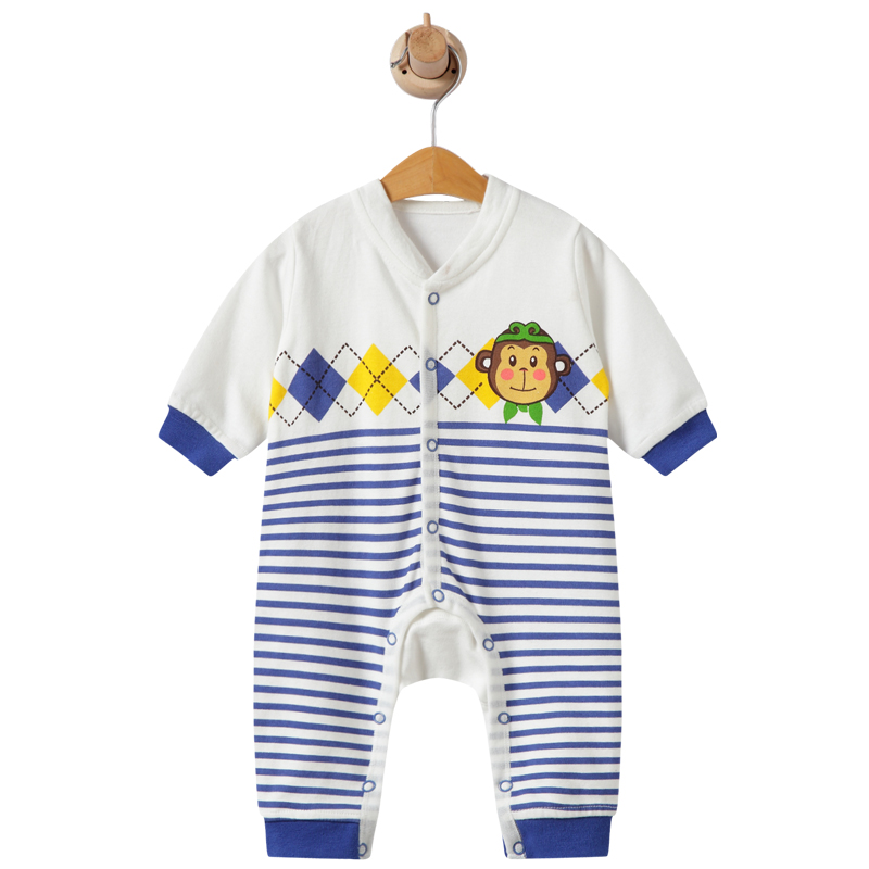 2019 Summer Baby Boy roupa de bebes Newborn Jumpsuit Long Sleeve Cotton Pajamas 0-12 Months   Rompers   Baby Clothes