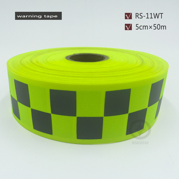 5cmx50m fluorescent yellow reflective warning tape with small square for safety colths free shipping.jpg 350x350