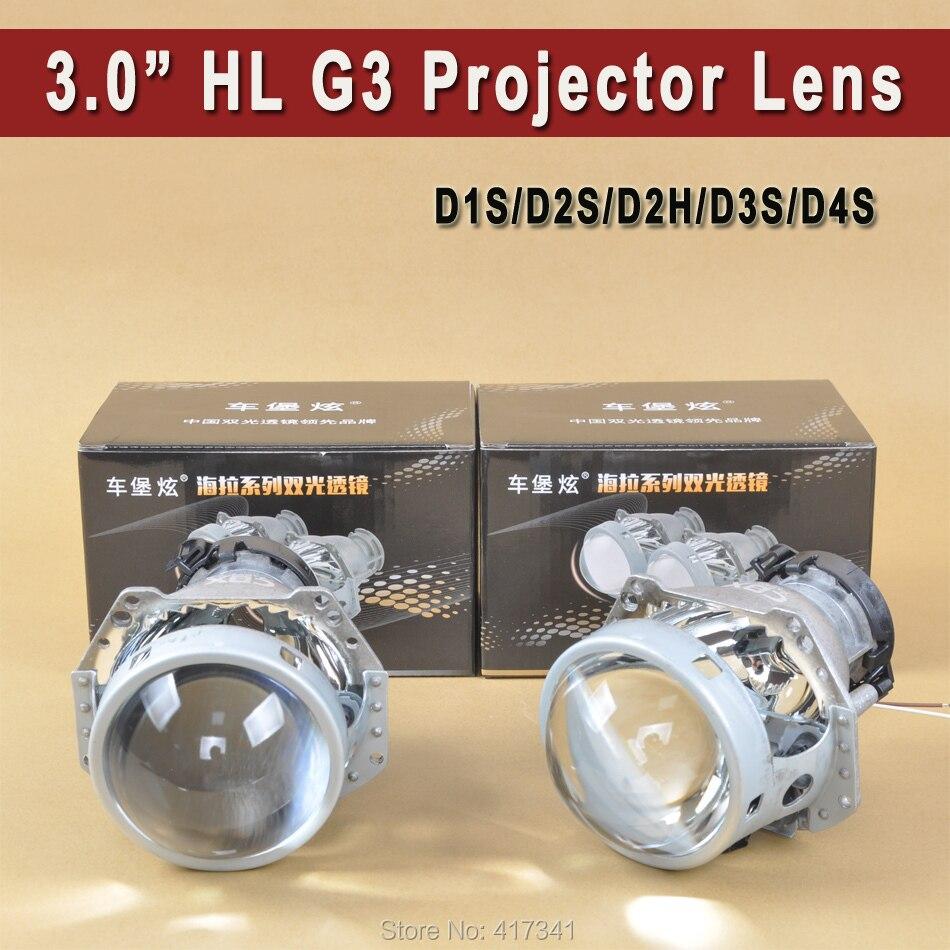 Lentille de projecteur bi-xénon domestique 3 pouces HL G5 D1S D2S D2H D3S D4S Position de conduite du phare LHD