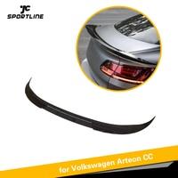 ABS Fibra de Carbono Olhar Brilhante Preto Arteon Tronco Spoiler Para Volkswagen VW CC 2019 2020|Spoilers e aerofólios| |  -
