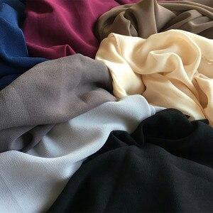 Image 5 - Chất Lượng Cao Đồng Bằng Bong Bóng Khăn Voan Màu Khăn Choàng Đầu Bãi Biển Phổ Biến Hijab Mùa Hè Hồi Giáo Khăn Choàng/Khăn 10 Cái/lốc