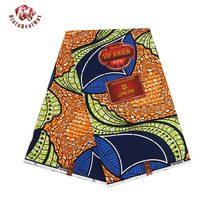 discount Ankara African Polyester Wax Prints Fabric Super Hollandais Wax High Quality 6 yards African Fabric for Dress pl696