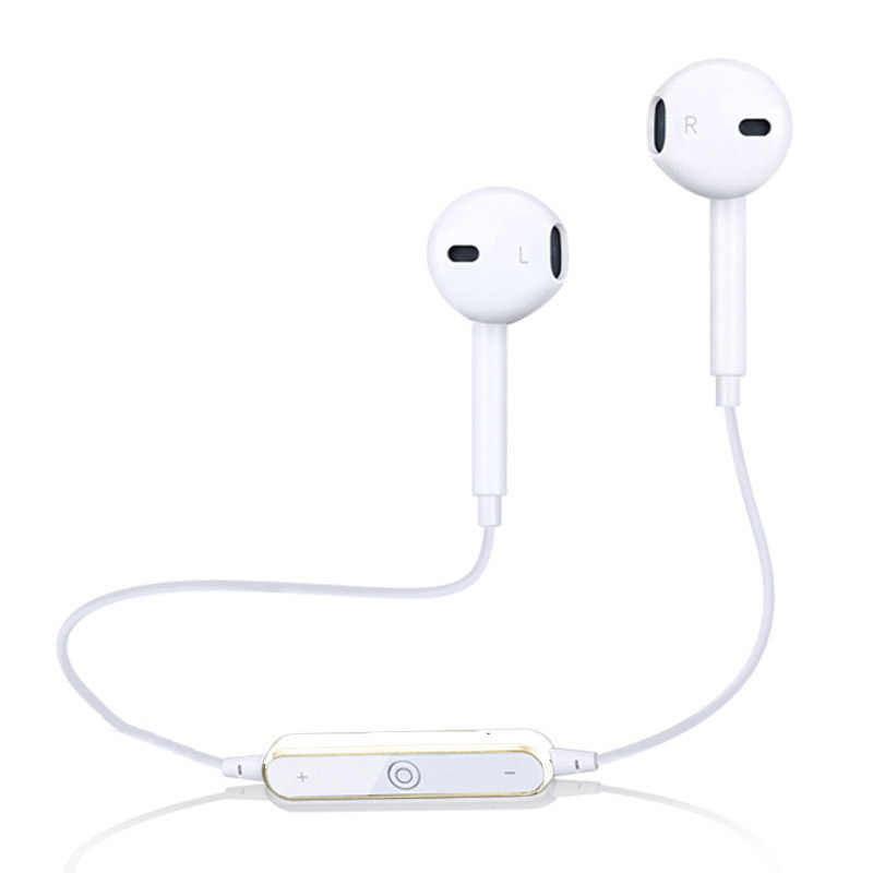 2019 Brand New Bluetooth Earphone Ear Hook Sport Wireless Earpiece Stereo Earbuds Bluetooth 4.1 W/ Mic Black White High Quality
