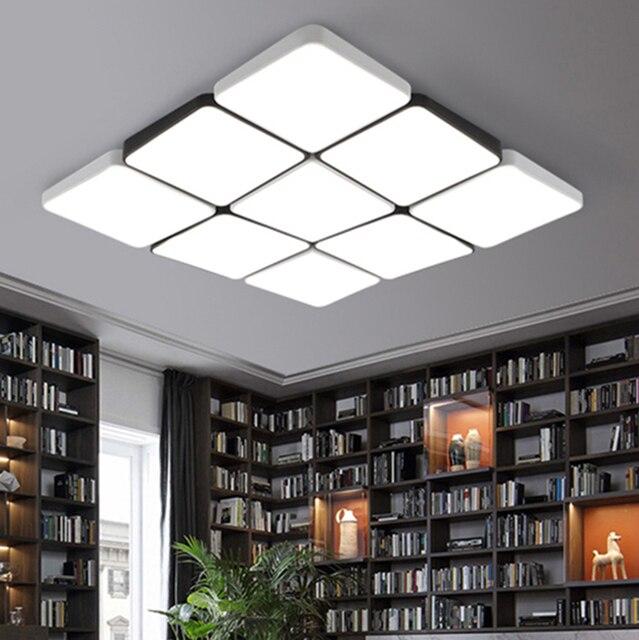 Minimalismus Moderne Led Deckenleuchten Wohnzimmer Schlafzimmer Küche  Deckenleuchte Weiß Und Schwarz Deckenbeleuchtungskörper