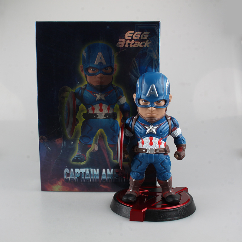 Avengers Age of Ultron Egg Attack Captain America Juguetes PVC Action Figure Brinquedos Collectible Model Doll Kids Toys 20cm gonlei spiderman marvel avengers 2 age of ultron hulk black widow vision ultron captain america action figures model toys