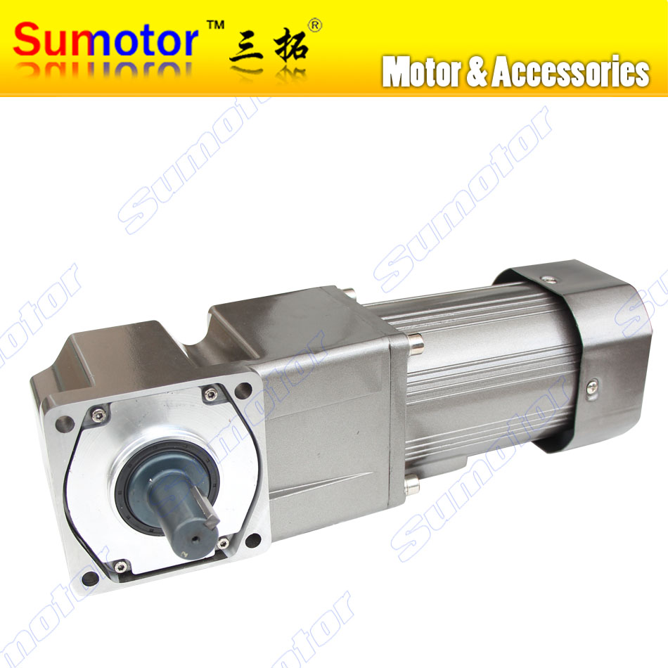 250W AC 220-240V 50/60HZ low speed Right angle 90 degrees Electric geared reducer motor CW CCW Industry adjustable speed control 90w ac 220 240v 50 60hz low speed electric geared induction reducer motor with brake speed controller cw ccw speed variable