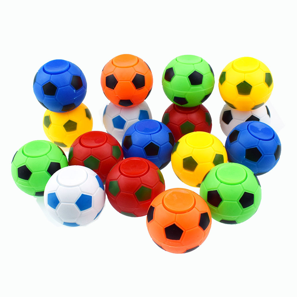 2pcs/lot 5CM*4.5CM Soccer Footable Fidget Spinner Plastic Ball Hand Spinner Reduce Stress And Increase Attention Toy Gifts