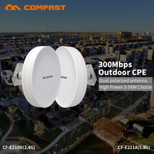 COMFAST 300mbps wifi router outdoor CPE wireless repeater router bridge built in dual polarized antenna for long range project