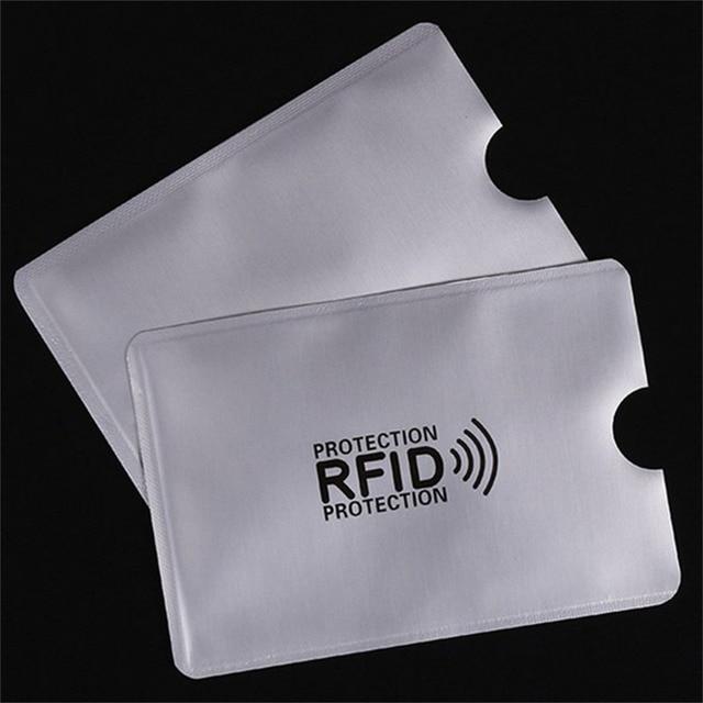 10 יח'\סט RFID מסוכך שרוול כרטיס חסימת 13.56 mhz IC כרטיס הגנה NFC אבטחת כרטיס למנוע סריקה