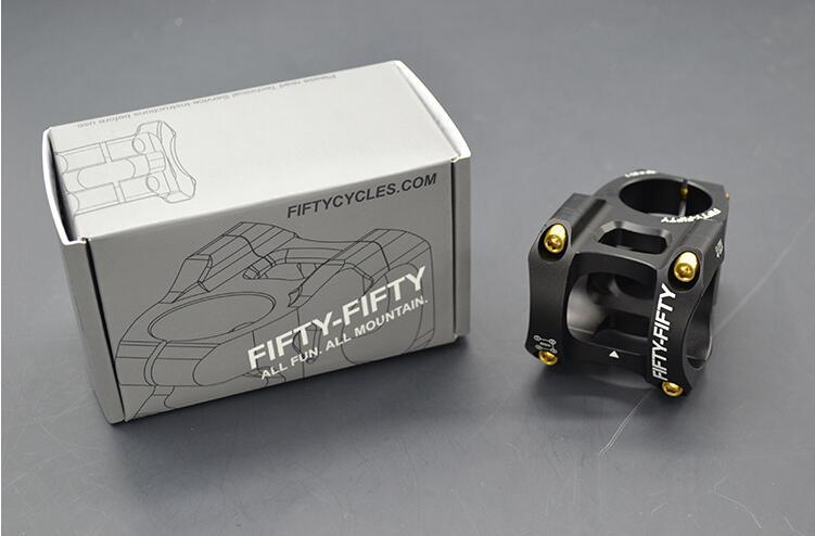 Bicicleta mtb vástagos AM FR ENDURO vástago bicicleta aluminio ciclismo piezas de vástago vástago 35 mm / 50 mm 0 grados