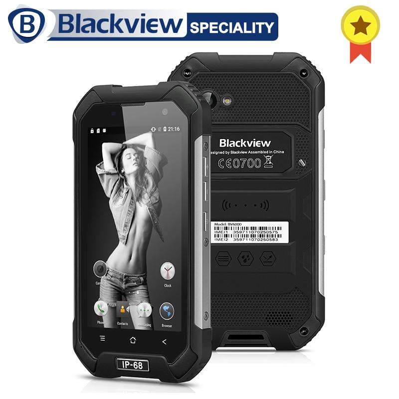 Blackview BV6000 Smartphone IP68 Wasserdichte MTK6755 Octa Core 3g RAM 32g ROM 13.0MP Handy 4,7 zoll Bildschirm 4g Handy