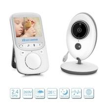 Video Baby Monitor vb605 radio nurse IR Night Vision Baby Intercom Temperature monitor 8 Lullabies 2.4inch wireless baby monitor