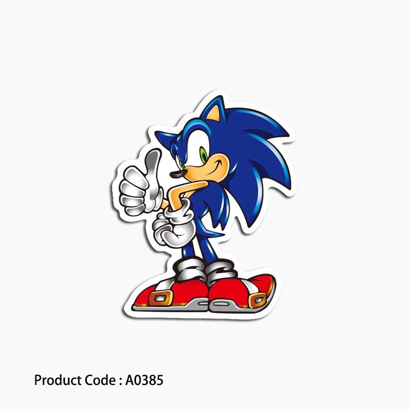 A0385 Sonic Hedgehog Game Sticker Laptop Cartoon Waterproof Suitcase Guitar Luggage Skateboard Toy Animal Stickers