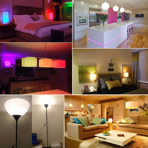 Image 2 - B22 Süngü RGB Led Ampul 5 W 10 W 15 W Kısılabilir 16 Renk Değiştirme Sihirli Aydınlatma Ampul AC 220 V 110 V RGB + Beyaz IR Uzaktan Lampada