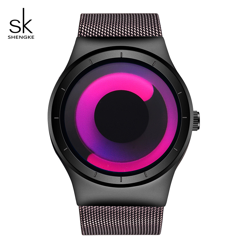 Shengke Creative Women Watches Luxury Stainless Steel Quartz Watch Ladies Clock Reloj Mujer 2018 SK Top Brand Watches For Women