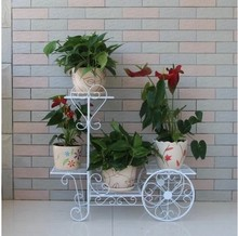 Iron balcony flower pots frame floor-to-multi-showy flower spider