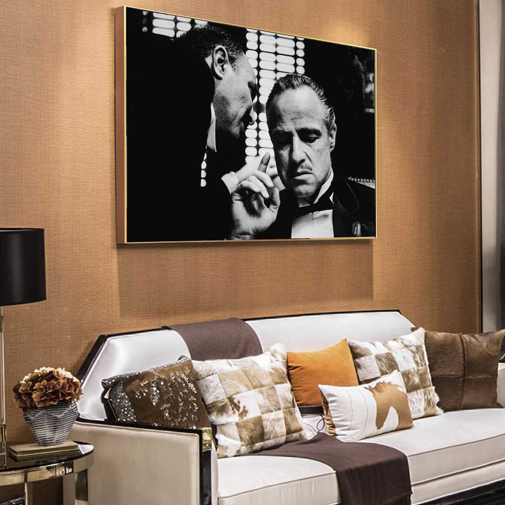 The Godfather Vintage Wall Posters And Prints Black And White Movie Photo Wall Art Canvas Prints Godfather Wall Paintings Decor