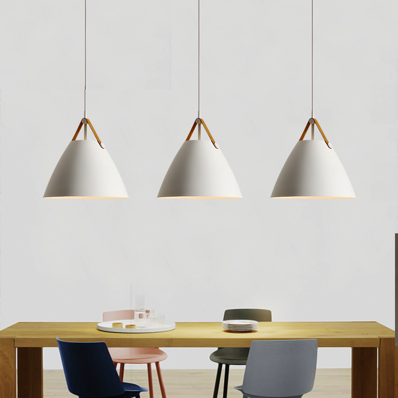 Nordic Ins Modern Minimalist Creative Iron Leather Pendant Lights Bedroom Restaurant Light Bar Cafe Minimalistic Hanging Lamps high quality led modern minimalist crystal pendant lamp light luxury living room bedroom art creative restaurant hanging lights