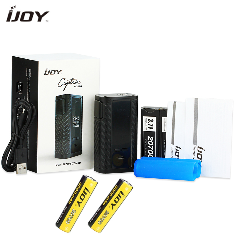 Original 234 W IJOY Captain PD270 TC boîte MOD avec double 20700 batterie 6000 mAh e-cig également adapté avec 18650 batterie pour RDA RTDA RTA
