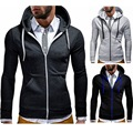 thin style men hoodies sweatshirts slim casual hooded hoodies sweatshirts free shipping