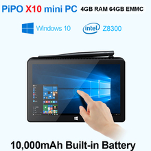PIPO X10 Mini PC Windows 10 TV Box Z8300 Quad Core Mini Box 2G RAM 32G ROM HDMI Media Box Bluetooth Win10