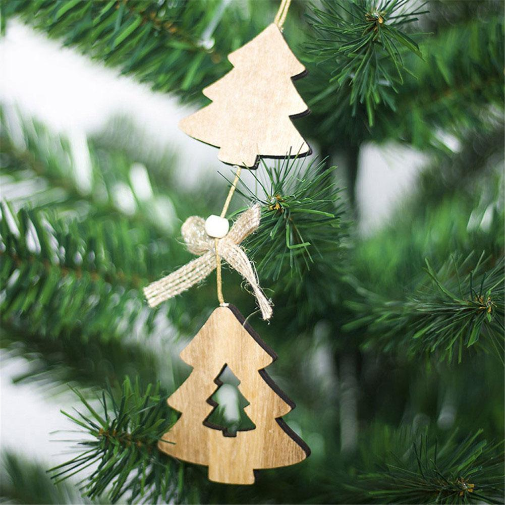 Angel Shaped Christmas Tree.Us 1 05 46 Off Topaty Christmas Tree Wooden Pendant Ornament Creative Heart Angel Shaped Christmas Decoration In Pendant Drop Ornaments From Home
