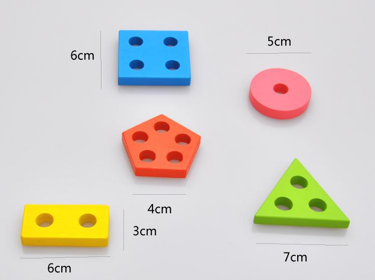 Itemship Montessori Early learning aids shape classification hand ...