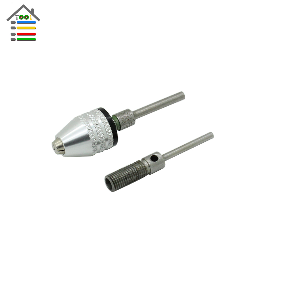 New Micro Mini Keyless Chuck Capacity 0.5-4mm With 2.3mm and 3mm Connecting Rod Shank For Dremel Electric Grinder Rotary Tool new micro mini keyless drills chuck capacity 0 5 4mm with 2 3mm connecting rod shank for dremel electric grinder rotary tool