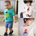 2016 camiseta de Las Muchachas Bobo Choses 18m-8y Niños Bebés de Algodón de Manga Corta Camiseta de Los Niños Los Niños Ropa de Los Muchachos de Moda de Verano