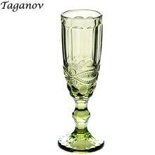 Бокал для шампанского, 150 мл, 5 унций, домашние вечерние бокалы, бокалы для красного вина, креативные винтажные цветные эмпайитические стаканы для сока, зеленые, синие, прозрачные