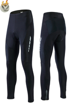 New Keep Warm Cycling Bib Trousers Winter Thermal Mountain Bike Pants Bicycle Tights Coolmax 5D Gel Pad Cycling Bib Pants недорого