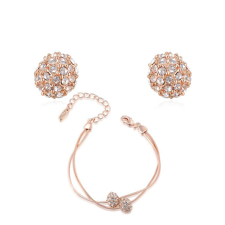 Fashion Simple Jewelry Set for Women Bridesmaid Rose Gold