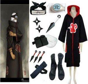 Flash Deal Anime Naruto Cosplay - Apparel Naruto Akatsuki Kakuzu Cosplay Costume Set Free Shipping 0