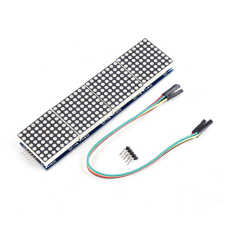 MAX7219 Dot Matrix Module 8x32 MCU Control Drive Module LED Display Module
