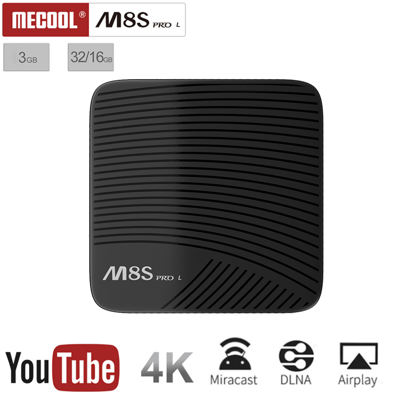 Mecool M8S PRO L 4K TV Box Amlogic S912 Cortex-A53 CPU Android 7.1 TV Box 16GB Bluetooth 4.1 + HS 4K / 3D H.265 Smart TV Box int box i7 amlogic s912 android 6 0 4k tv box tronsmart tsm01