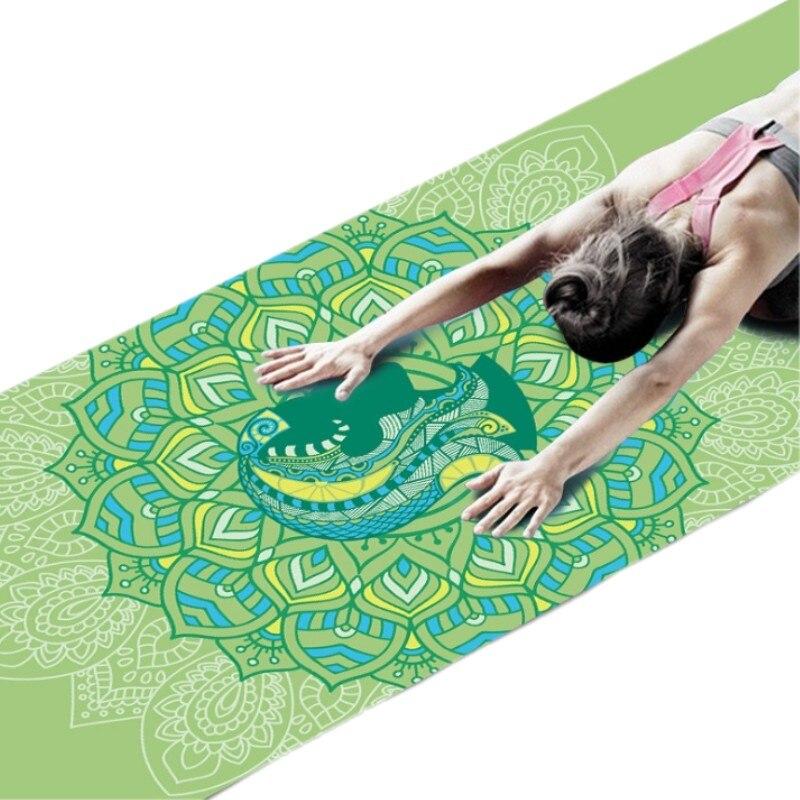 6 MM Twelve Constellation Pattern PVC Yoga Mat Non-slip Slimming Exercise Fitness Gymnastics Mat Body Building Pilates 173*61mm