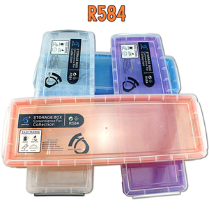Image 2 - JianHua Large Paint Brush Storage Box Transparent Window Pencil Case 390*135*45 mm Painting Supplies