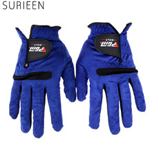 1pc Golf Sports Mens Man Right Left Hand Golf Gloves Sweat Absorbent Microfiber Cloth Soft Breathable Abrasion Male Gloves